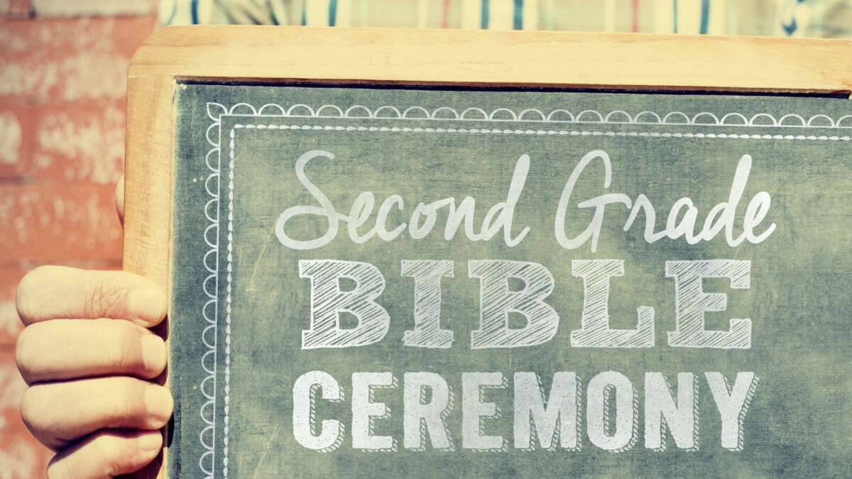 Second Grade Bible Ceremony